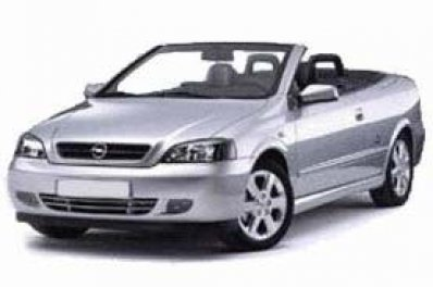 Opel Astra Cabrio car for hire in Paphos Cyprus