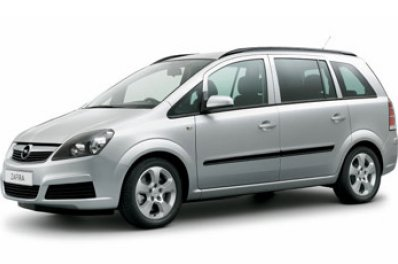 Opel Zafira car for hire in Paphos Cyprus